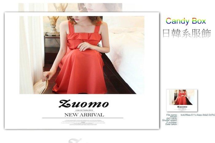 ☆Candy Box☆2014夏裝新款女裝波西米亞長裙夏季連衣裙高腰大碼無袖吊帶沙攤裙 玫紅(L) Z2611751
