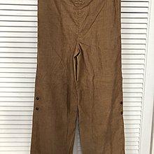 MAX & CO 棕色燈芯細絨寬管褲