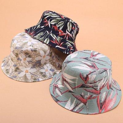 漁夫帽 個性 花朵 圖騰 印花 盆帽 防曬 可折疊 遮陽帽 漁夫帽【YFM595】
