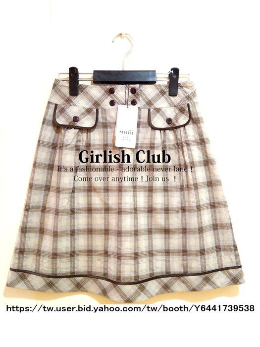 【Girlish Club】專櫃MH6i菱格紋A字裙吊牌價2980M(m1109)韓國sz萊卡佛洋裝iroo一八一元起標
