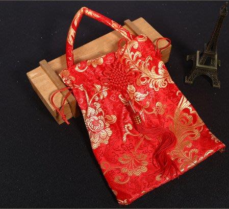 喝茶禮中國風手提袋 春節送禮禮物袋 婚禮小物 喜糖袋 萬用袋 束口袋【愛光臨】