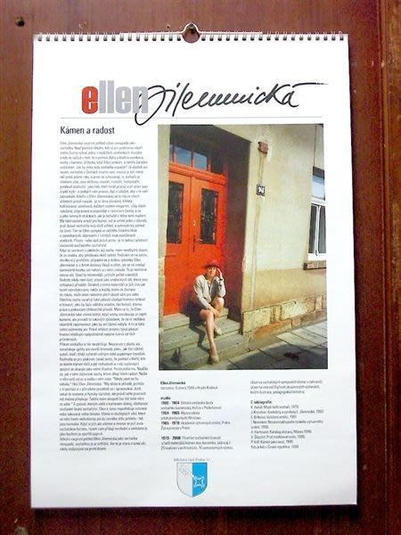 【雕塑藝術家Ellen Jilemnicka`的親筆簽名】捷克布拉格‧2000千禧年紀念月曆《銀玥書坊》給喜歡藝術的朋友