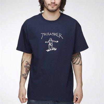 【THRASHER】GONZ 純棉圓筒Tee (深藍色)