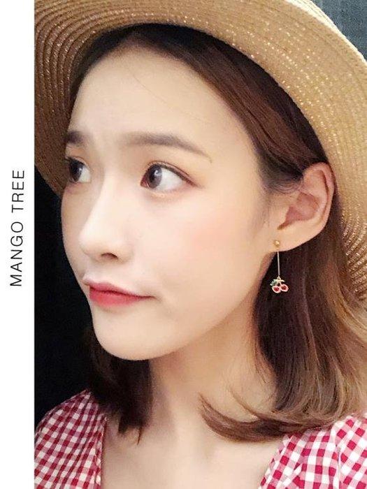 耳環   韓國長款水果菠蘿櫻桃耳環氣質個性度假風耳釘耳夾女E208