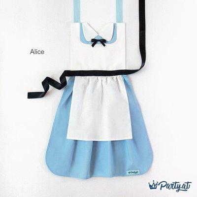 **party.at**愛麗絲夢遊仙境 Alice 兒童圍裙(另有紅心皇后)2-8Y 萬聖節 聖誕節 白雪公主 小美人魚