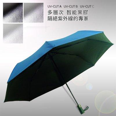 【黑の科技】Blocktech_45吋大黑膠-自動晴雨傘 (藏青) /雨傘自動傘防風傘抗UV傘陽傘大傘黑膠傘(免運)