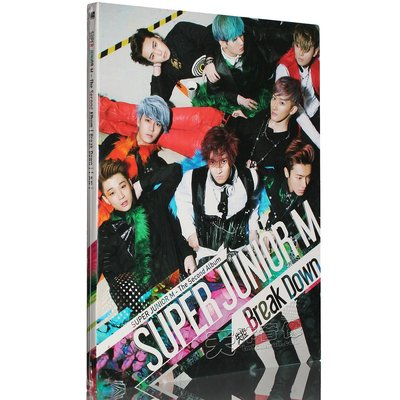 正版 sj-m super junior-m 失控 break down CD+寫真集 2013專輯