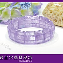 【崴全水晶】天然 能量 水晶 紫玉髓 手排 【20x14mm】 手珠 飾品