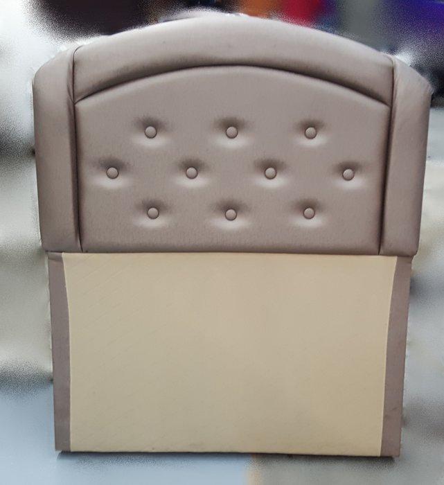 宏品二手家具館 台中柚木賣場 B60615奶茶色皮革3.5尺床頭片/ 床頭櫃*2手家具拍賣床組 床箱 衣櫥 斗櫃 化妝桌