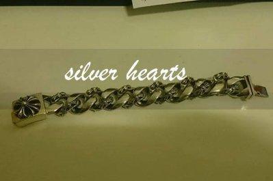 【SILVER HEARTS】Goro's Chrome Hearts 克羅心 十字花 ID 純銀手環 手鐲