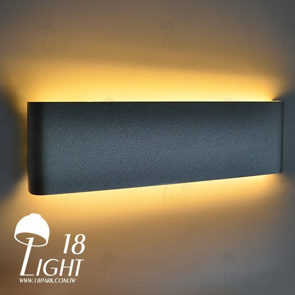 【 18 LIGHT 】 俐落質感 Texture [ 空之音壁燈-30cm-霧黑 ]