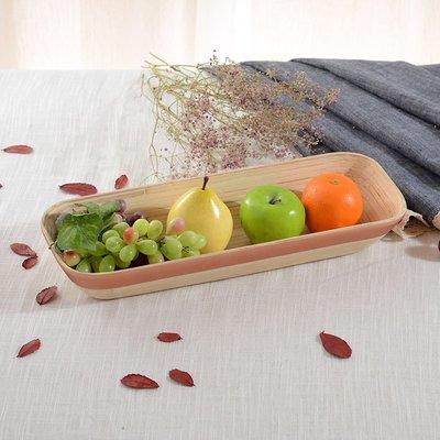 越南竹編水果盤歐式客廳茶幾擺件現代簡約創意個性干果盤零食盤