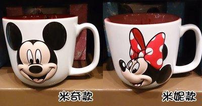 【香港迪士尼代購】米奇&米妮大頭圖案 陶瓷馬克杯 咖啡杯 (現貨+預購)