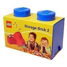 現貨可超取【LEGO 樂高】100% 全新正品 1x2 積木收納盒 - 藍色 storage brick 2