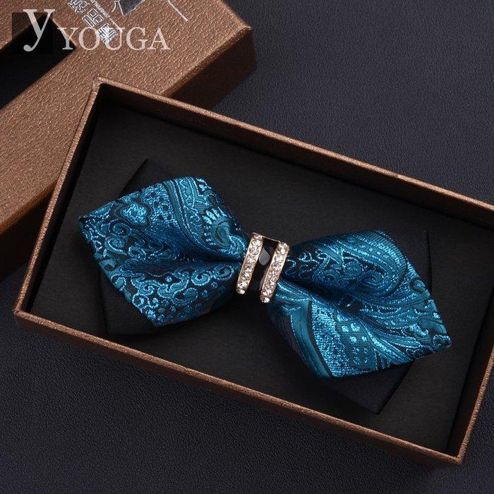 質感英倫男士蝴蝶結領結男 正裝結婚領帶韓版雙層新郎領結禮盒裝