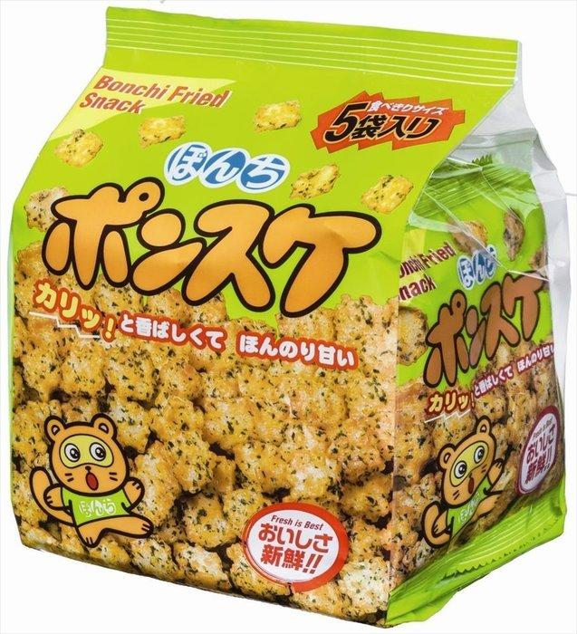 +東瀛go+5袋入 Bonchi 5P海苔球 醬油海苔味 邦茲炸米果 一口炸米果 日本零食 日本進口 一口餅 中元節