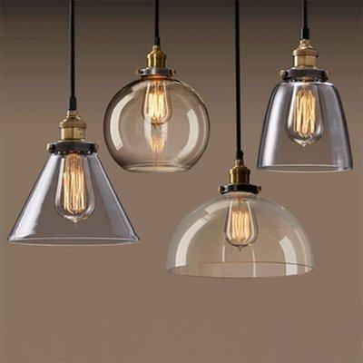 美式鄉村玻璃吊燈loft餐廳咖啡廳吧臺燈樓梯臥室個性創意單頭吊燈