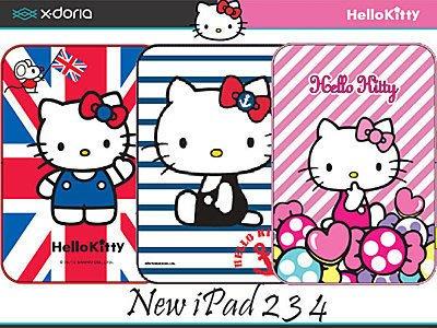 蝦靡龍美【PA088】三麗鷗正品 Hello Kitty Xdoria New iPad 2 3 4 凱蒂貓可立平板包