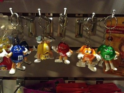 (I LOVE樂多)日本進口m&m's巧克力造型鑰匙圈 送人自用兩相宜