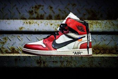OFF-WHITE Nike Air-Jordan-1 High OG THE-TEN AA3834-101黑紅黑白紅白