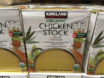 【日日小舖外送代購】好市多 Kirkland 科克蘭有機清雞湯 每組946毫升x6瓶 美國USDA認證