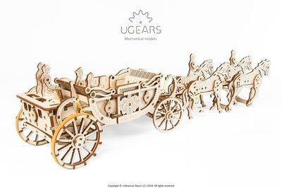 Ugears 皇家馬車 Royal carriage集資網好評 KICKSTARTER 敞薘馬車 哈里王子