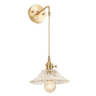 壁燈鏡前燈衛生間衣帽間背景牆黃銅玻璃吊線壁燈水晶燈圓盤飛碟燈波浪