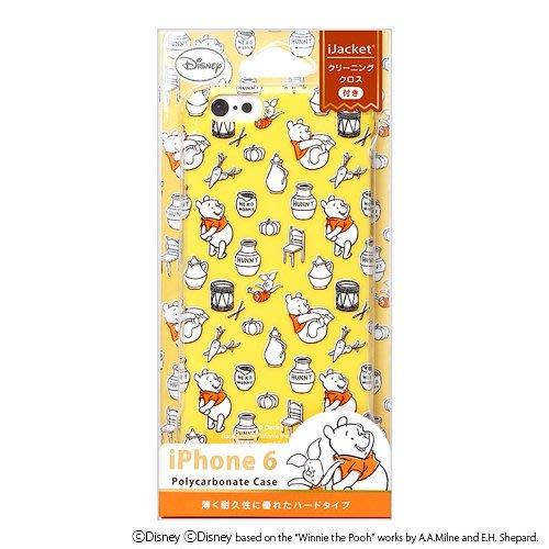日本迪士尼正品【小熊維尼小豬滿版黃底#23】iphone6s 4.7吋 手機殼 手機套 背蓋