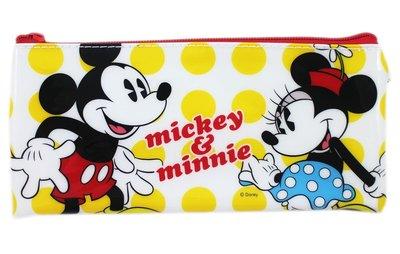 【卡漫迷】 米奇 米妮 PVC 筆袋 ㊣版 拉鍊式 鉛筆袋 收納包 萬用袋 鉛筆盒 Mickey 米老鼠 Minnie
