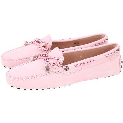 米蘭廣場 TODS Gommino Driving 撞色編織綁帶豆豆休閒鞋(粉色) 1610066-05