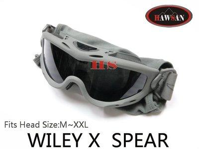 WILEY X SPEAR 護目鏡 綠(SP293G) 軍用公發品 贈眼鏡袋/鏡片*2/說明書~100% 防UVA/VU