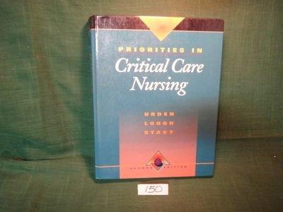 【愛悅二手書坊 20-41】Critical Care Nursing