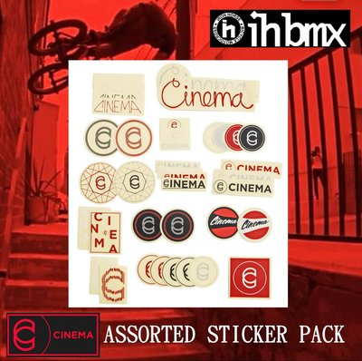 [I.H BMX] CINEMA ASSORTED STICKER PACK 貼紙組
