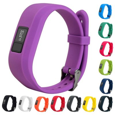 丁丁 佳明 Garmin Vivofit 3 霓虹多彩光面智能手環一體扣矽膠錶帶 vivofit3 佩戴舒適 替換腕帶