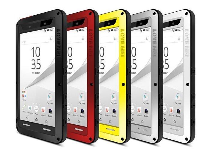 LOVE MEI索尼SONY Z5 Premium三防金屬手機殼5.5吋尊享版金屬邊框防摔防塵防震保護套