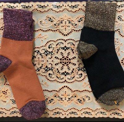 🌸復古金蔥拼色襪🌸