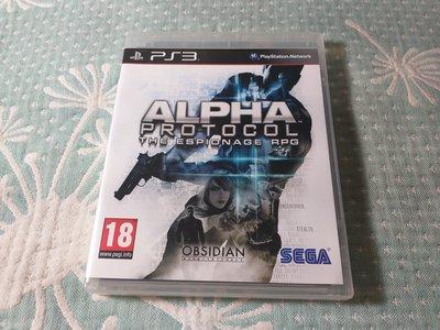 格里菲樂園 ~ PS3  阿爾法協議 Alpha Protocol 初始協定 英文版
