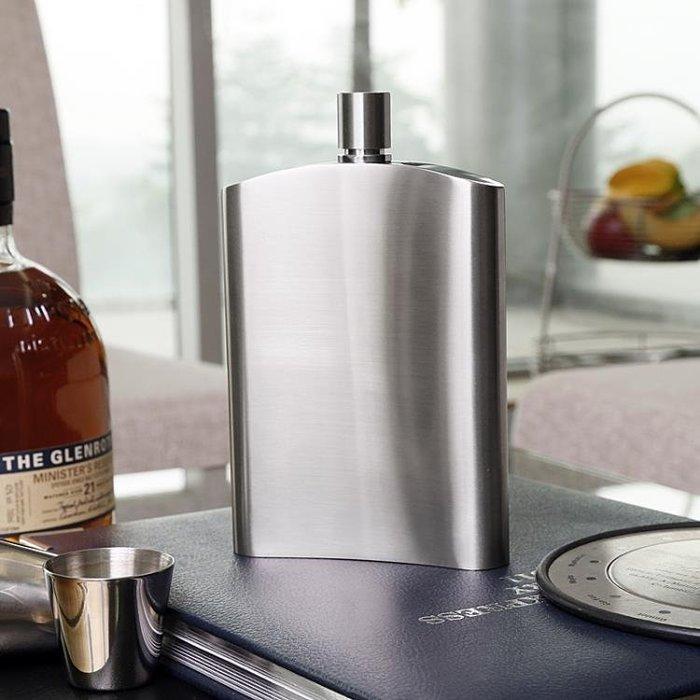 加厚戶外隨身便攜304不銹鋼小酒壺半斤裝10盎司250毫升俄羅斯酒瓶