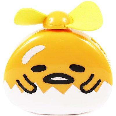 尼德斯Nydus 日本正版 三麗鷗 Sanrio 蛋黃哥 好熱唷~ 隨身電風扇 小電扇