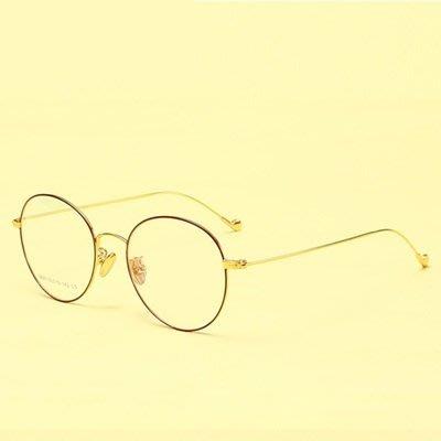 眼鏡 框 圓框 鏡架-復古潮流文藝氣質男女平光眼鏡5色73oe18[獨家進口][米蘭精品]