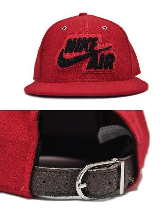 CodE  NIKE AIR TRUE WOOL SNAPBACK 羊毛電繡棒球帽(紅黑 8d71a4ea5192