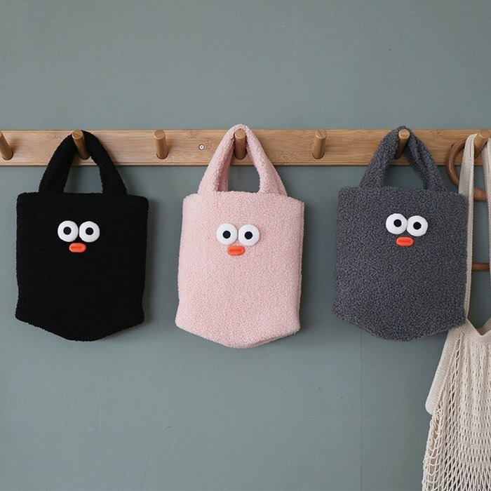 ❅PAVEE❅ 韓國Romane~ Brunch Brother Eco Bag 好食光 毛線膨膨 手提包/手提袋
