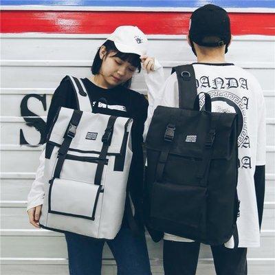 ZIHOPE 電腦包 港風情侶大容量雙肩包男新款韓版校園休閒旅行書包15.6電腦背包女ZI812