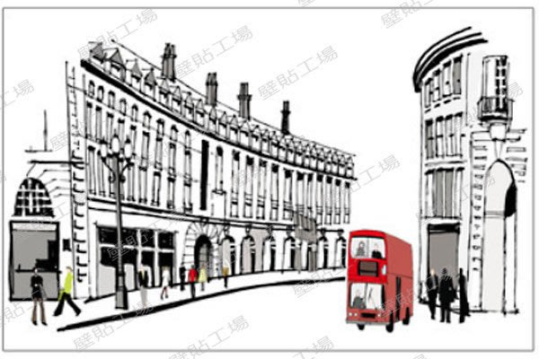 壁貼工場-三代特大尺寸壁貼 壁貼 貼紙   牆貼室內佈置 羅馬街頭 組合貼 AY1911