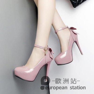 恨天高/超高跟涼鞋女新款12cm單鞋性感夜場女韓版細跟一字扣鞋