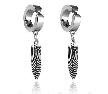 優質 鈦鋼 韓版 耳環 耳夾 2款 有無耳洞都適用  男女潮 耳釘 鈦鋼 耳夾