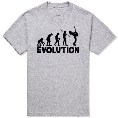 Evolution Guitarist 短袖T恤 2色 吉他進化論時尚設計幽默搖滾 亞版