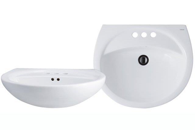 """《101衛浴精品》凱撒 CAESAR 奈米抗污 壁掛式 4""""孔 面盆 L2220D【免運費 可貨到付款】"""