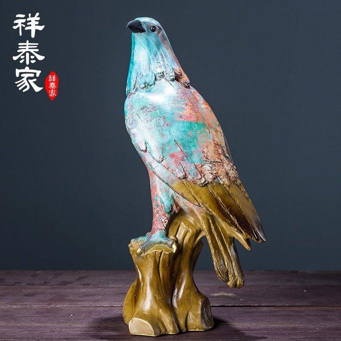 〖洋碼頭〗油畫藝術品鷹頭擺件 歐式客廳家居裝飾品抽象工藝品雕塑藝術 xtj445