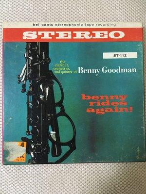Benny Goodman~Benny Rides Again! 7吋 7 1/2 IPS磁式盤帶 Bel Canto